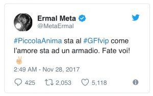 Ermal Meta tweet