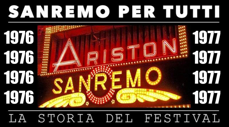 Sanremo per tutti, la storia del Festival | 1976 – 1977