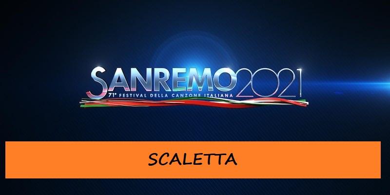 Scaletta Sanremo 2021