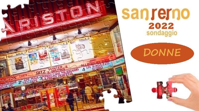 Sanremo 2022 - Sondaggio Donne